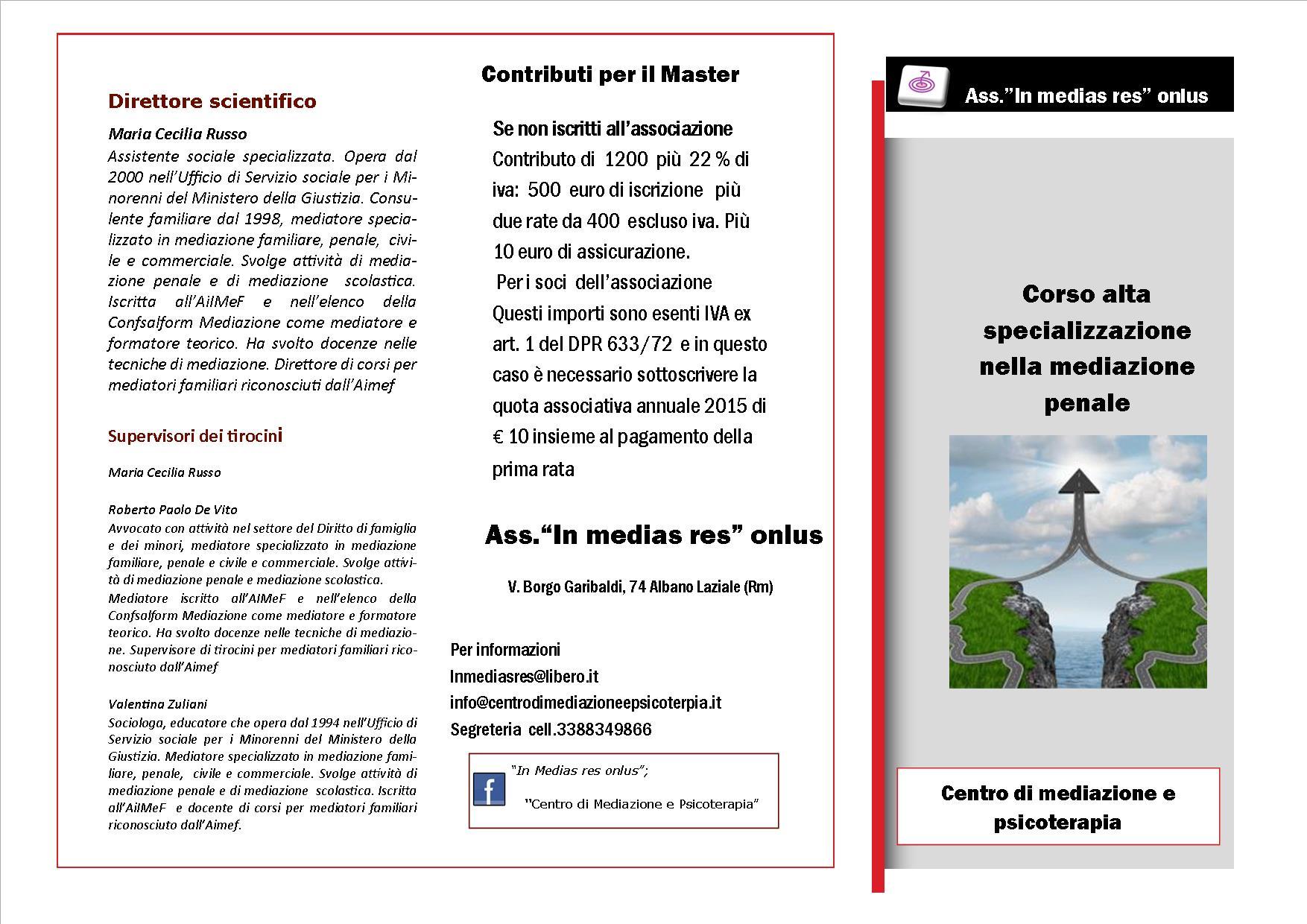 brochure corso Alta specializz med penale